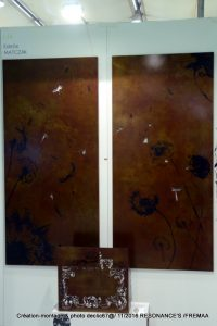 Souffle duo décor mural en acier patiné